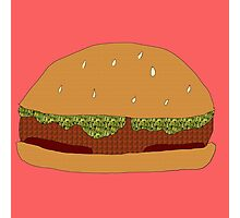 Burger Collage With Leaf Detail Photographic Print