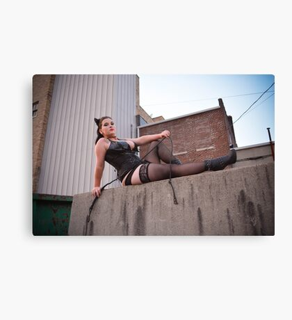 Catwoman Cosplay Canvas Print