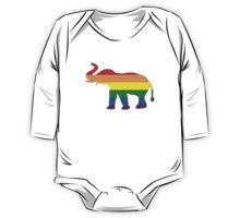 Rainbow Elephant One Piece - Long Sleeve