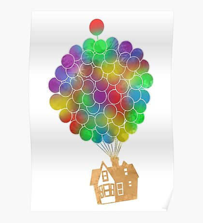 Balloon House Inspired Silhouette Poster