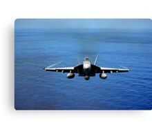 F/A-18E Super Hornet from the Tophatters of Strike Fighter Squadron (VFA) 14  Canvas Print
