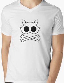 Owl Cross Bone 2 Mens V-Neck T-Shirt