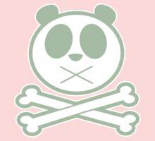 Panda Cross Bone - Green One Piece - Short Sleeve