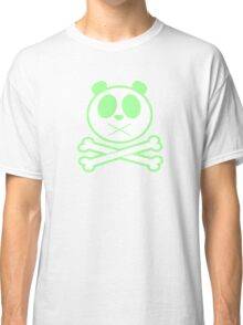 Panda Cross Bone - Green Classic T-Shirt