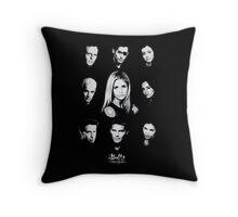 Buffy Cast Throw Pillow