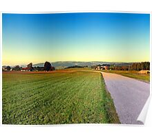 Autumn afternoon in the countryside | landscape photography Poster