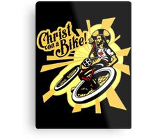 Christ on a Bike Metal Print