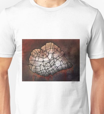 London Heart – hand drawn map of central London (colour) Unisex T-Shirt