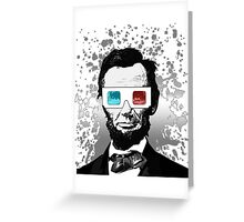 Abraham Lincoln - 3D (2) Greeting Card