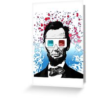 Abraham Lincoln - 3D Greeting Card