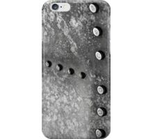 Abstract steel background closeup photo iPhone Case/Skin