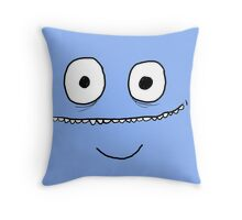 Fun Bright Cartoon Face  Throw Pillow