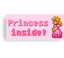 Princess inside! Canvas Print