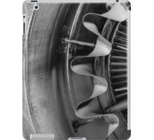 Closeup of a jet engine iPad Case/Skin