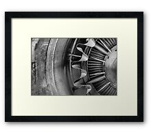 Closeup of a jet engine Framed Print