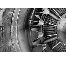 Closeup of a jet engine Photographic Print