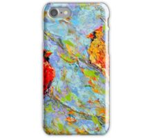 cardinals in the tree top iPhone Case/Skin