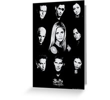 Buffy Cast Greeting Card