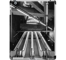 Modern metro interior with escalator iPad Case/Skin