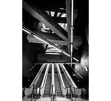 Modern metro interior with escalator Photographic Print