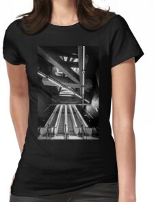 Modern metro interior with escalator Womens Fitted T-Shirt