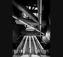 Modern metro interior with escalator Unisex T-Shirt