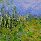birch trees landscape by -KAT-