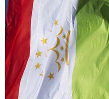 Waving Flag of Tajikistan From 2014 Winter Olympics by pjwuebker