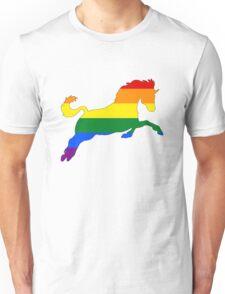 Rainbow Horse Unisex T-Shirt