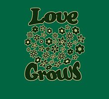 Love grows Womens Fitted T-Shirt