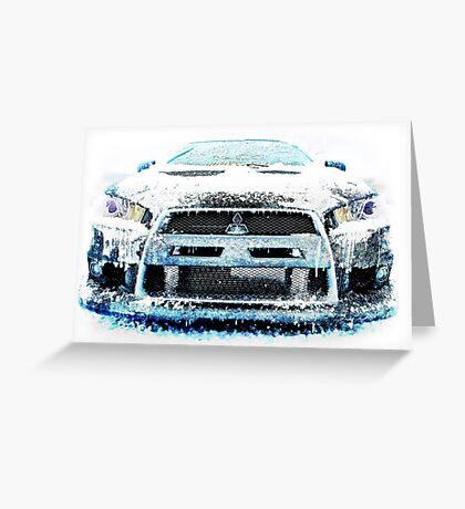 Ice Cold Evo Greeting Card
