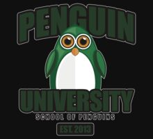 Penguin University - Green 2 T-Shirt