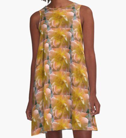 Among the fragrant petals A-Line Dress