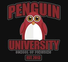 Penguin University - Red 2 Kids Clothes