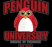 Penguin University - Red 2 by Adamzworld