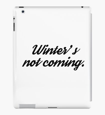 game of thrones funny winter tv series t shirts iPad Case/Skin