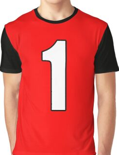 Football, Soccer, 1, One, Number One, First, Team, Number, Red, Devils Graphic T-Shirt