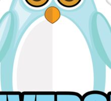 Penguin University - Blue 2 Sticker
