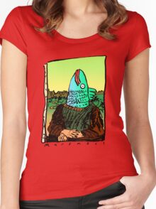 Enigmatic Fish Women's Fitted Scoop T-Shirt