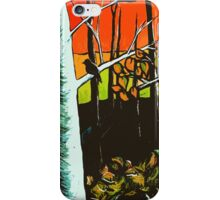 Orange Sky Through the Trees iPhone Case/Skin
