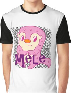 Cute Character Porcupine MELE Graphic T-Shirt