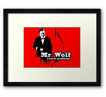 Mr. Wolf Framed Print