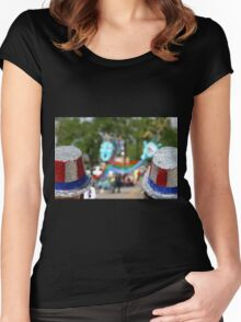 4th July hats Women's Fitted Scoop T-Shirt