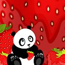 Panda & Strawberries 2 by Adamzworld