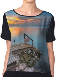 Sunset in the Keys Chiffon Top
