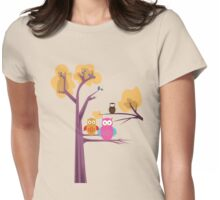 Owls 2 Womens Fitted T-Shirt