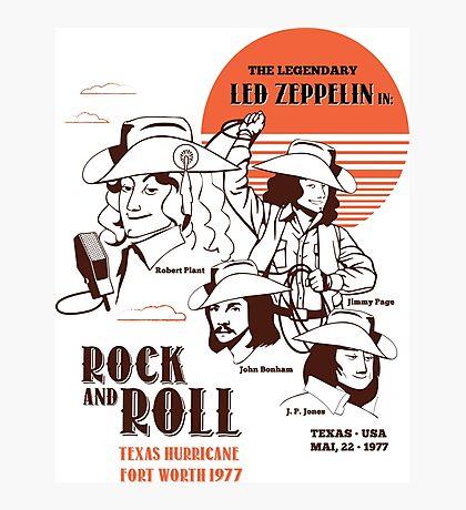 The Legendary Led Zeppelin Photographic Print