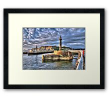 Whitby Harbour on the North Yorkshire Coast Framed Print