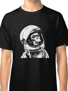 Monkey in Space. Funny Astronaut Chimpanzee  Classic T-Shirt