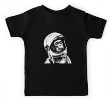 Monkey in Space. Funny Astronaut Chimpanzee  Kids Tee